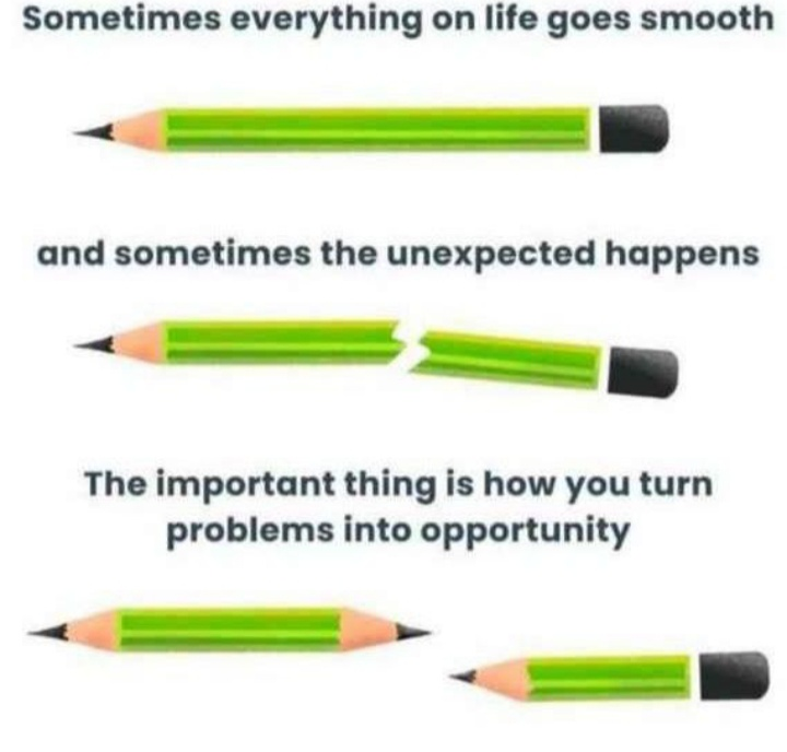 Turn your problems into opportunities 😊
