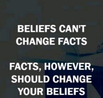Beliefs and facts